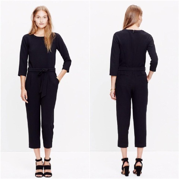 49257c118095 Madewell Dresses   Skirts - Madewell black jumpsuit crop (romper jumper)
